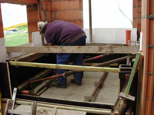 Boden fertig Aufbau Wandschalung